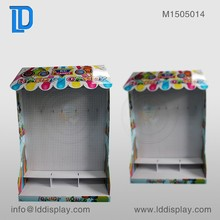 High quality house shape candy floor cardboard stand for supermarket promotion