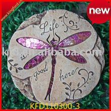 2011 new Colorful Mosaic Dragonfly Foot Step