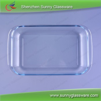 Borosilicate clear glass charger plate