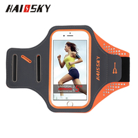 "HAISSKY 5.0"" China Manufacturer Sport Running Waterproof ArmBand Case For iPhone 6/6S/7/8/x"