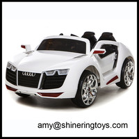 Battery Powered Car For Kids Ride On Toy 12V Electric Black Vehicle