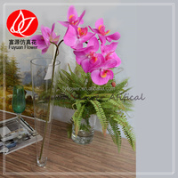 140940 2015 factory direct crazy selling real touch rubber washable wholesale artificial flowers orchid