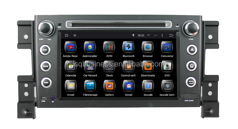Quad Core Android 4.4 Touch Screen Central Multimedia for Suzuki Grand Vitara Car Audio DVD Player With GPS Navigation Hot