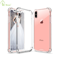 Hard Back Panel TPU Frame Bumper Crystal Clear anti-drop case for iPhone X, TPU PC hybrid shockproof cover skin for iPhone X