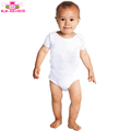 Boutique Infant Toddlers Clothing Summer Short Sleeve Baby Boy And Girl Romper Blank White Newborn Baby Onesie