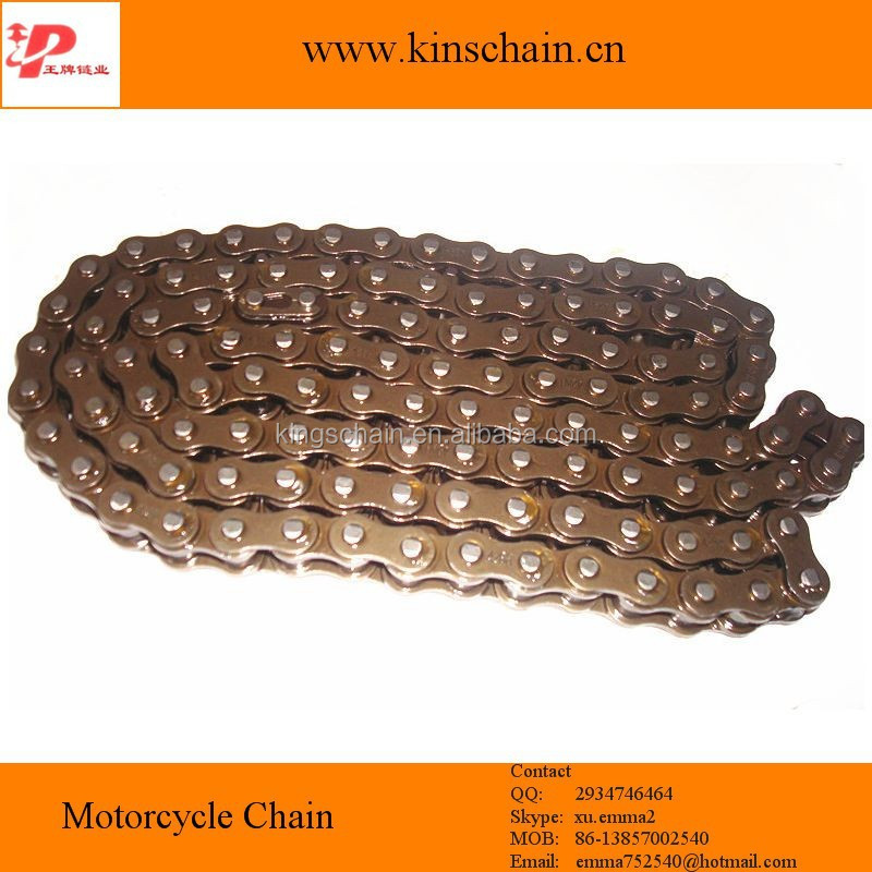 yellow motorcycle chain 428 china supplier