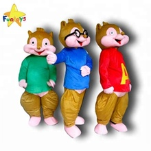 Funtoys CE alvin chipmunks cartoon mascot costumes