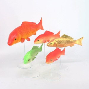 PU material simulated fish artificial animals market prop early education toys