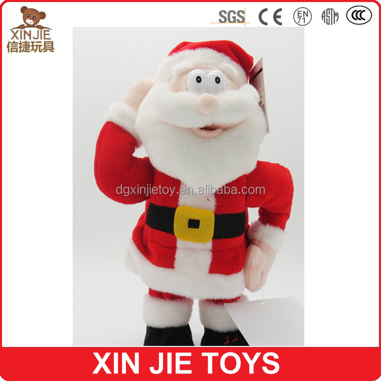 standing cartoon plush santa claus for sale