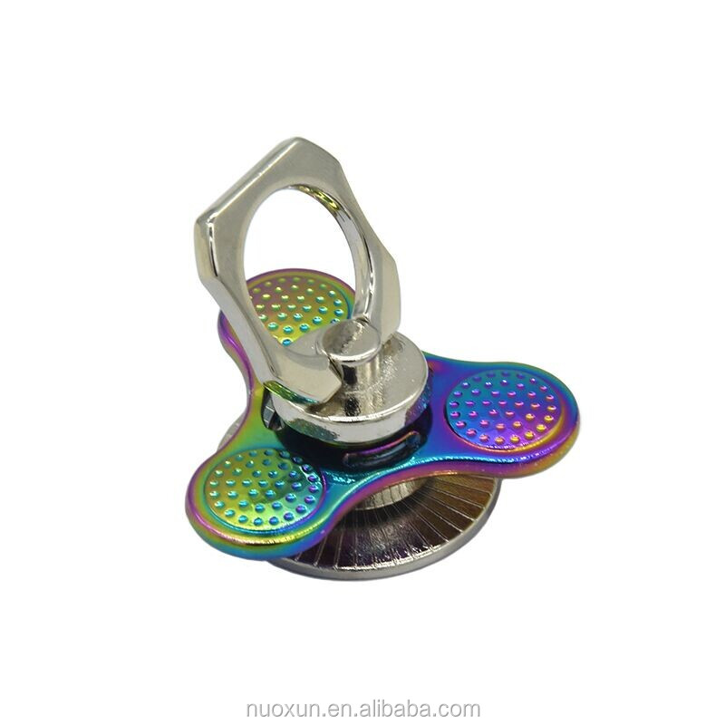 New colorful rainbow metal alloy fidget finger fidget hand spinner metal for phone