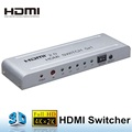 HDMI switch 5x1 with 5 input 1 output 4K/60Hz 1080P 3D with IR remote control