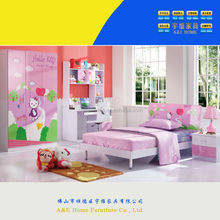 6911 hello kitty pink colorful loft beds for kids bedroom furniture/kids antique furniture