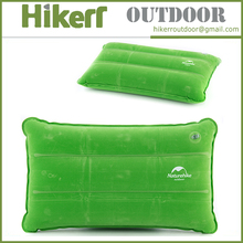 High quality outdoor pillow olding cushion travel inflatable camping pillow