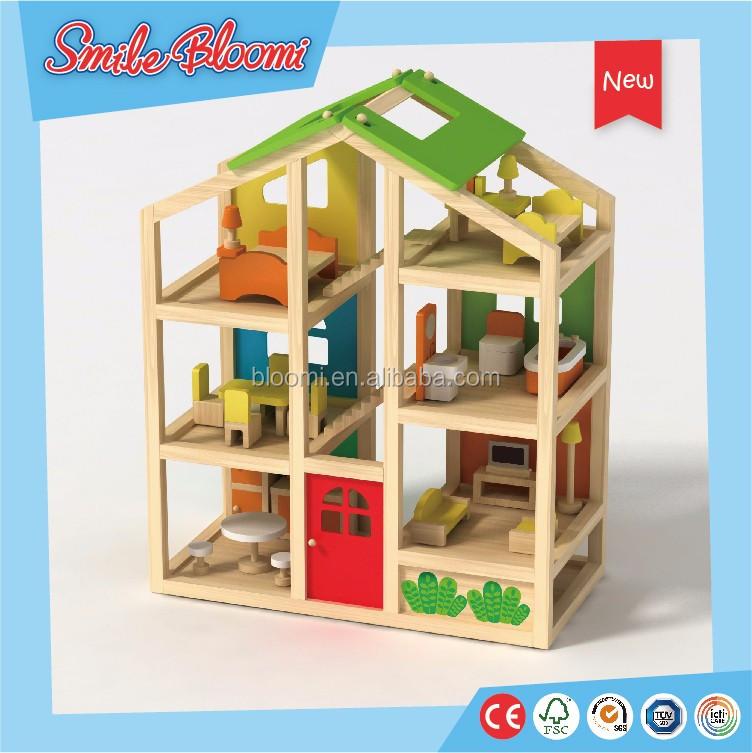 Preschool Furniture Toys Wooden Dollhouse Buy Wooden