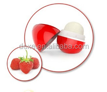 2016 popular lovely ball shaped lip balm of famous star own
