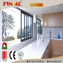 China cheap price champagne color aluminum sliding window for balcony