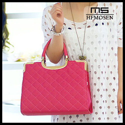 B4066 2013 new hot sale Korean simple textured metal binding thread solid bag fashionable bag
