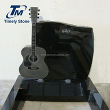 New design granite guitar headstones/monuments
