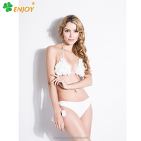 2016 sexi open handmade brazilian triangle swimwear bikini for sexy lady