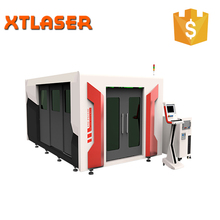 sealed type fiber laser cutting machine for carbon stainless steel and aluminum material 500W