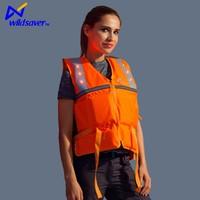 LED flashing safety foam buoyancy survival life jackets for adult