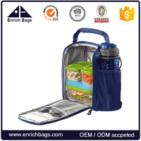 Lightweight Insulated Lunch Bag with Bottle Holder