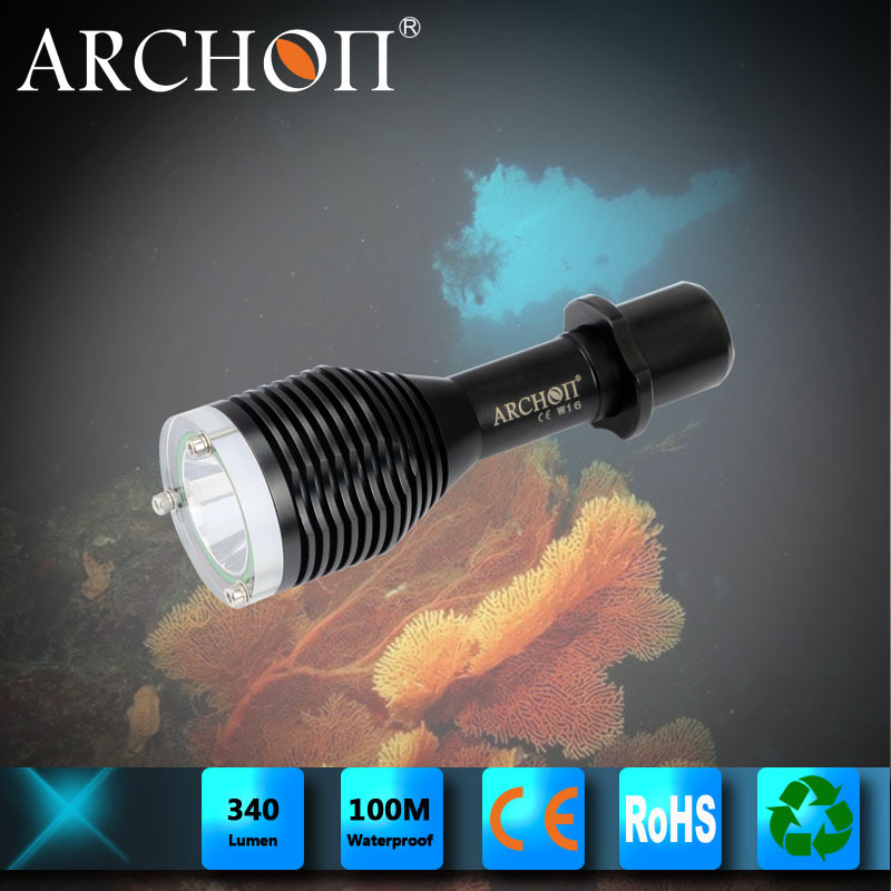 ARCHON W16 XP-G R5 LED (Max 340 Lumens) Dive Flashlight IP68 100m lifeproof torcia per immersione