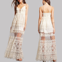 latest dress designs photos white mesh overlay floral embroidered maxi dress