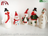 high quality and 100% pure wool felt decoration for Christmas snow man