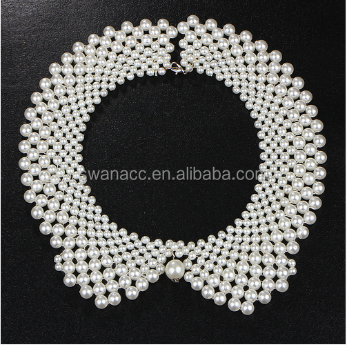 Handmade simulated Pearl collar necklace choker necklace jewelry wholesale