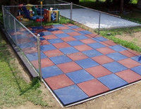 Rubber Paver Flooring,Sport Play Mat,colorful recycled rubber tile