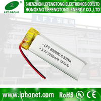2015 Hot Battery manufacturer wholesales china low temperature 802990 lipo battery 3.7V 2250mAh