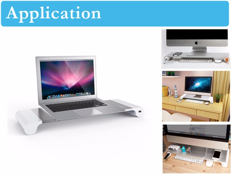 Computer Accessories Modern simple style MDF laptop stand, monitor stand