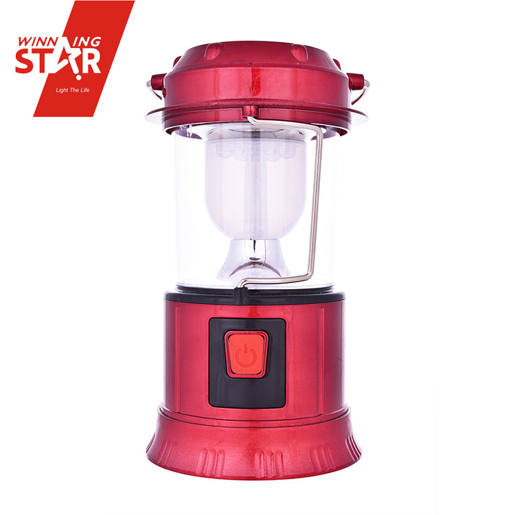 6 LED + 1W USB Slot Rechargeable Solar Electric Lamps and Lanterns