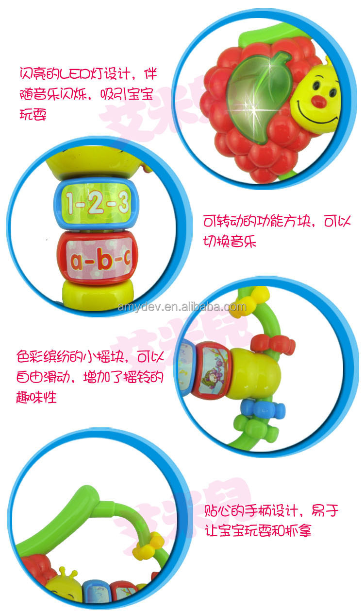 BO Rattle Learn and Shake Grape with light and music for baby