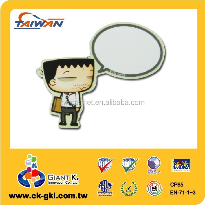 Customized wholesale promotional giveaways memo board paper fridge magnet