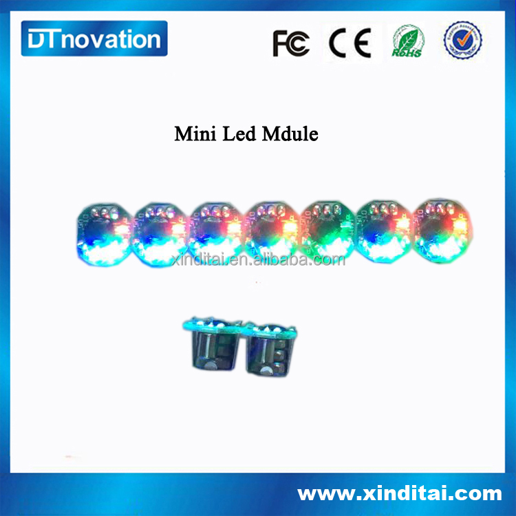 Mini color changing round rgb led module for clothes