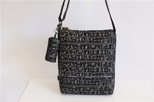 Ethnic style canvas shoulder bag for man