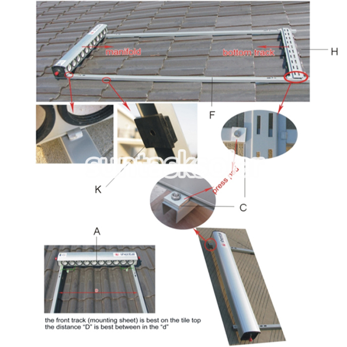 High Pressure Heat Pipe Solar Collector with Solar Keymark EN12975 (SCM-01)