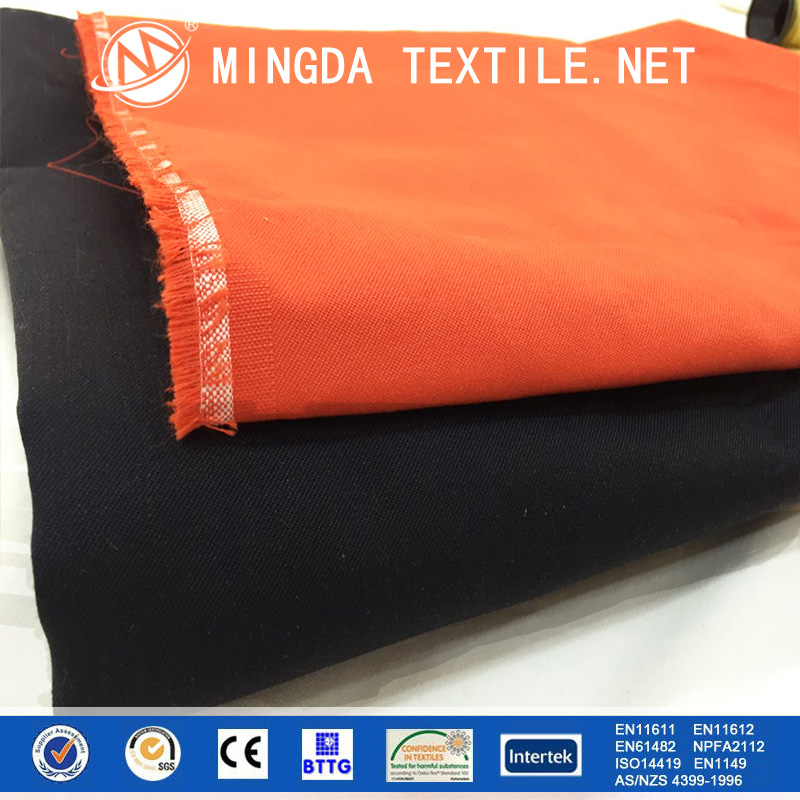 Chinese Manufacturer rayal blue and orange fr fabric/heat resistant fabric aramid safety clothing for sale