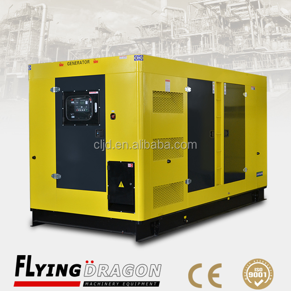 300kw silent canopy mechanical dynamo diesel generator set powered by 375kva diesel engine prices