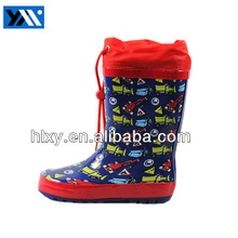 High quality fashion printed waterproof rain boots for Kids