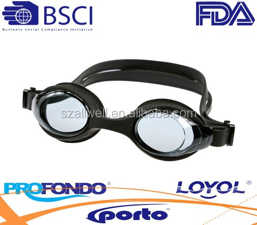 one piece silicone swimming goggle with wide view