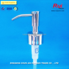 high quality 24mm 28mm metal stainless steel hand lotion pump dispenser