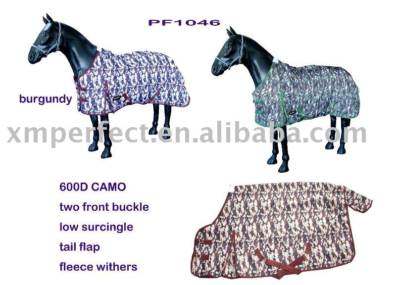 Camo Horse Winter Blanket