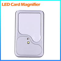 DH-82003 Promotional Factory Supply 3X Reading Credit Name Card Size Magnifier , Led Lighted Pocket Plastic Magnifying Glass