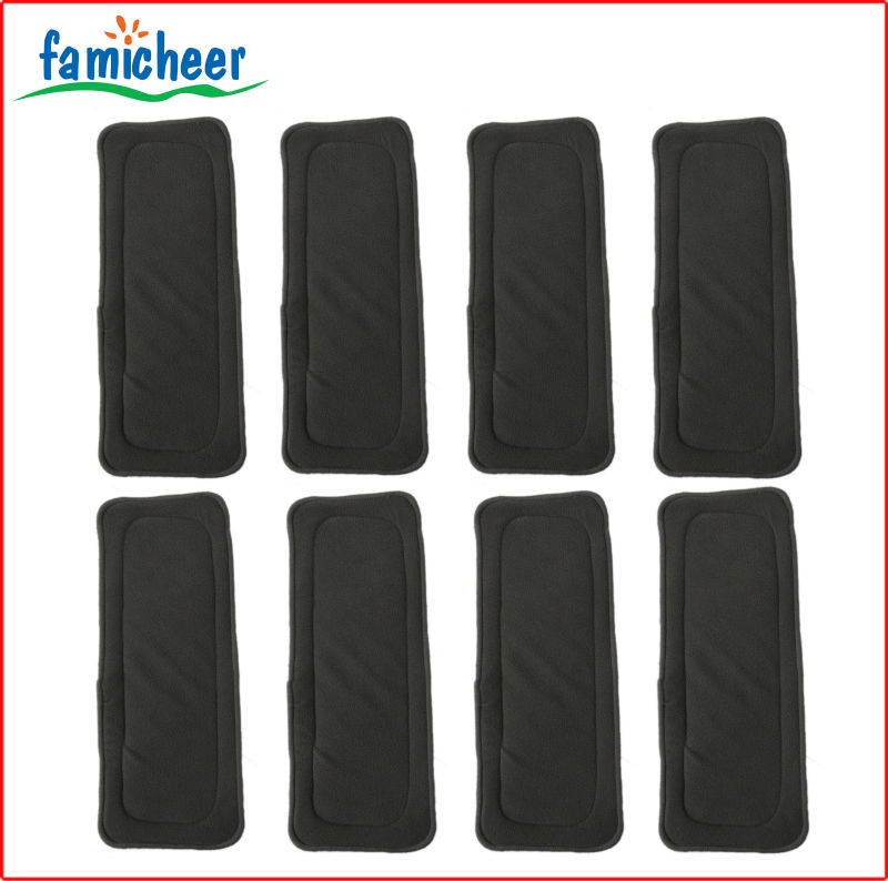 Famicheer Heavy Wetter Thicker 5layers Bamboo Charcoal Inlet Booster