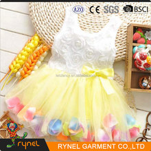 PGCC3822 Beautiful Girl Without Dress Coloerful Flower Girl Dress Baby Girl Party Dress