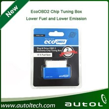 2015 EcoOBD2 Chip Tuning Box reducing fuel consumption economy driving for gasoline and Diesel