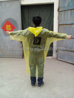 YunShang cheap disposable pe rain poncho
